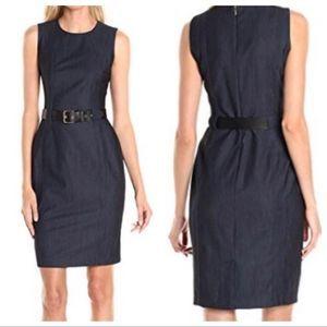 Calvin Klein | Denim Sheath Dress